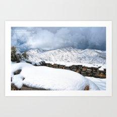 Snow on the Ruins Art Print
