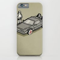 iPhone & iPod Case featuring Stormtrooper and his Delorean by vin zzep