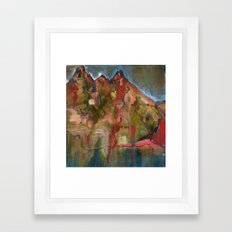 Mountaintop Blues Framed Art Print