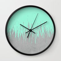 Fringe Concrete Mint Wall Clock