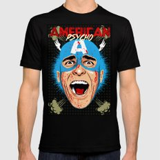 Captain Bateman Mens Fitted Tee Black SMALL