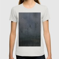 Landscape Womens Fitted Tee Silver SMALL