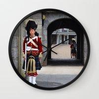 Wall Clock featuring Guard of the Halifax Citadel by BinaryGod.com
