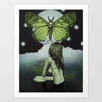 The Great Moth Art Print