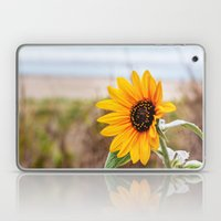 Sunflower near ocean Laptop & iPad Skin