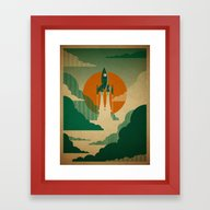 The Voyage (Green) Framed Art Print