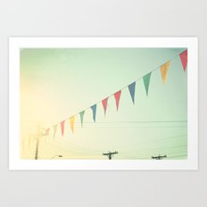 country bunting Art Print