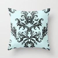 Damask Pattern Throw Pillow