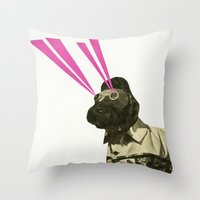 Space Dog Throw Pillow