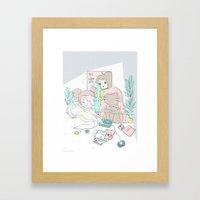 EMO GIRLS Framed Art Print
