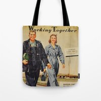 1942 Working Together Co… Tote Bag