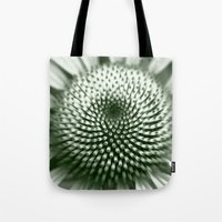 Black and White Flower Core Tote Bag