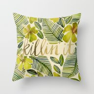 Killin' It – Tropical … Throw Pillow