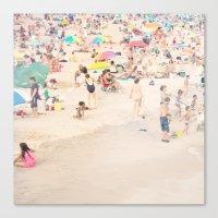 Beach Crowd Canvas Print