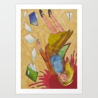 Staircase At The University Art Print