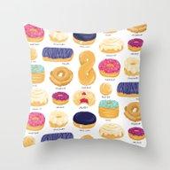 Throw Pillow featuring Donut Identification by Smalltalkstudio