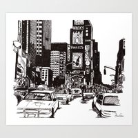 new york Art Prints featuring New York New York by Bianca Green