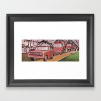 Conveying Cars Framed Art Print