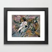 Aries and the Finches Reborn Framed Art Print