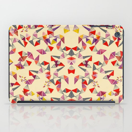 watercolour geometric shapes iPad Case