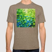 Water As Painting Mens Fitted Tee Tri-Coffee SMALL