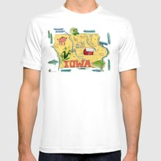 IOWA SMALL White Mens Fitted Tee