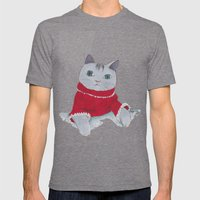 Cozy Cat Mens Fitted Tee Tri-Grey SMALL