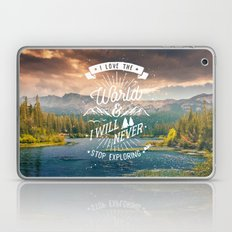 Inspirational Quote and Mountains III Laptop & iPad Skin