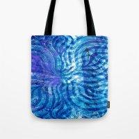 Blue curving Tote Bag