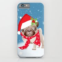 Pug Dog With Cute Santa … iPhone 6 Slim Case
