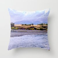 Camping On The Yellowsto… Throw Pillow