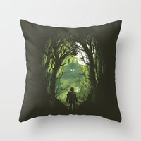 It's Dangerous To Go Alo… Throw Pillow