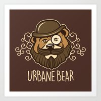Urbane Bear Art Print