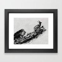 Intense Chasing Framed Art Print