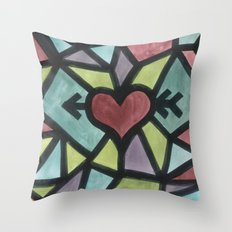 Stained Love Throw Pillow
