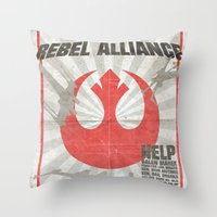 Join The Rebel Alliance Throw Pillow