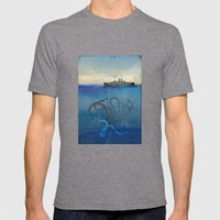 Sea Monster Mens Fitted Tee Tri-Grey SMALL