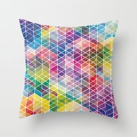 Cuben Curved #6 Geometri… Throw Pillow