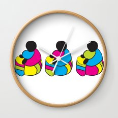 3 Drummer Men Wall Clock