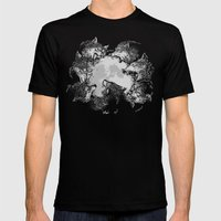 Moon Eaters Mens Fitted Tee Black SMALL