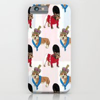 iPhone & iPod Case featuring British Bulldog Guard by HarrietAliceFox