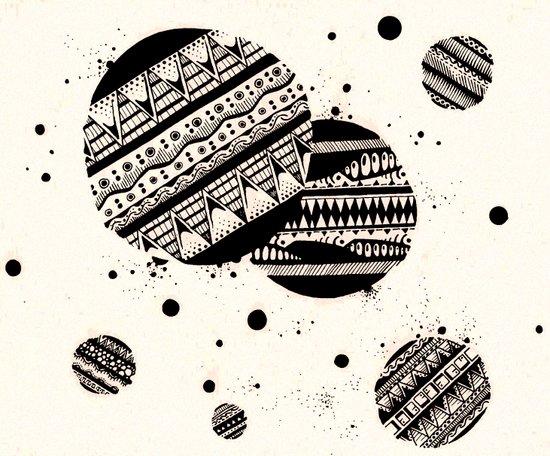 Pattern Doodle One Art Print