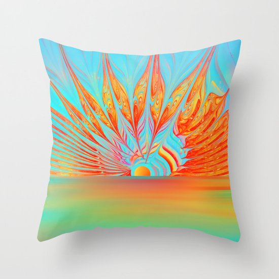 Splendid Sunrise Throw Pillow