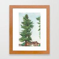 Neighbor's Tree Framed Art Print