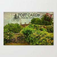 Postcard From My Travels. Canvas Print
