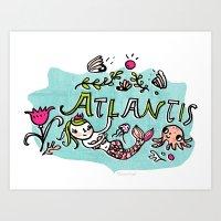 Candy Atlantis Art Print