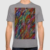 Colorful Waters Mens Fitted Tee Athletic Grey SMALL