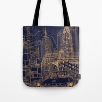 New York! Night Tote Bag