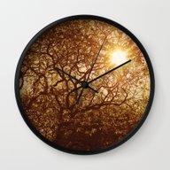 Shining Through The Tree… Wall Clock