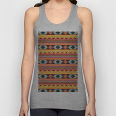 Navajo blanket pattern- orange Unisex Tank Top